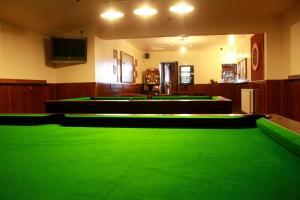 A billiards table at The Black Bull Inn