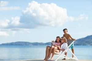 A family staying at MarBella Corfu