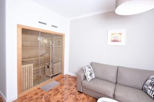 A seating area at Central Sauna & Loft Apartments