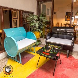 Zona de estar de Hostal CasArte Takubamba