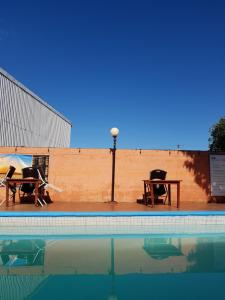 The swimming pool at or near Managua Backpackers Inn