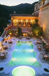 A view of the pool at Samode Palace or nearby
