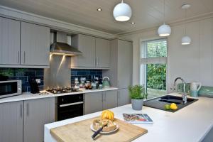 A kitchen or kitchenette at Cedar Lodge, Strawberryfield Park