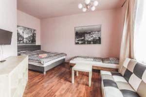 Postel nebo postele na pokoji v ubytování Hostel u Arény