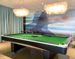 A pool table at Harbor Hotel Provincetown