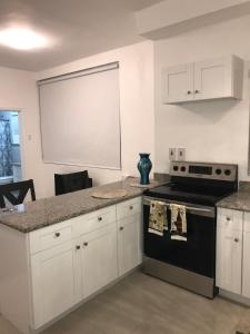 A kitchen or kitchenette at The Harloe - Luxury Condos