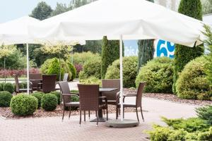 A porch or other outdoor area at ibis budget Szczecin
