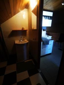 Een badkamer bij Apartments Zbraslav