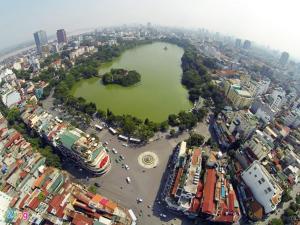 Blick auf Hanoi Culture Hostel aus der Vogelperspektive