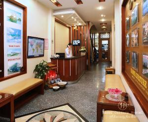Lobby/Rezeption in der Unterkunft Hanoi Culture Hostel