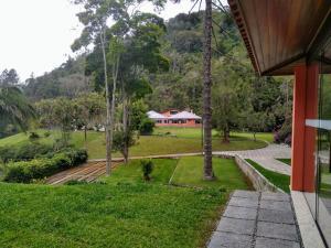 A garden outside Pousada Pelajo