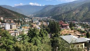 A bird's-eye view of Thimphu 180 view