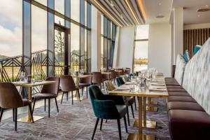A restaurant or other place to eat at Hilton Aberdeen TECA