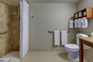A bathroom at Hampton Inn Miami-Coconut Grove/Coral Gables
