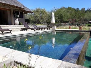 The swimming pool at or near Villa Salines