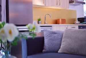 A kitchen or kitchenette at FLEXappart Gosselies-Charleroi Airport