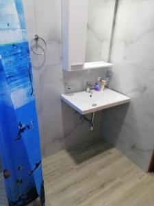 A bathroom at Apartments Skrapalli