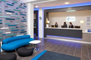 The lobby or reception area at Holiday Inn Express Manchester City Centre Arena, an IHG Hotel