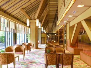 The lounge or bar area at Hotel Shikanoyu