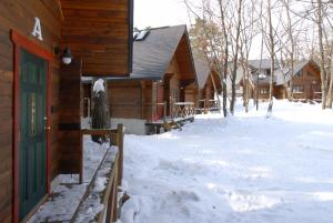 Hakuba Brownie Cottages during the winter
