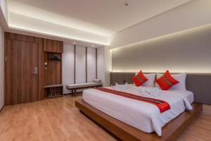 Cama o camas de una habitación en True Siam Phayathai Hotel