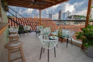 A balcony or terrace at Casa La Fe by BespokeColombia