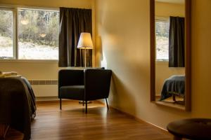 A seating area at Hengifoss Guesthouse