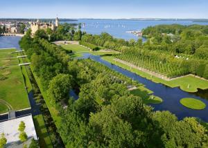 Blick auf The Avalon Hotel aus der Vogelperspektive