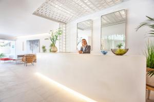 Lobbyn eller receptionsområdet på Grupotel Picafort Beach