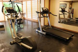 The fitness center and/or fitness facilities at Hotel Matsubara