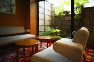 A seating area at Takamiya Hotel Bonari no Mori