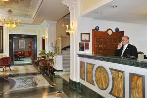 The lobby or reception area at Hotel Mecenate Palace