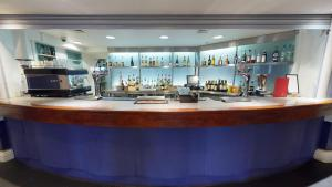 The lounge or bar area at Bromley Court Hotel London