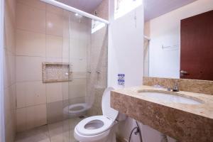 A bathroom at Pousada Muito Bonito