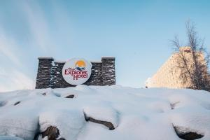 The Explorer Hotel during the winter