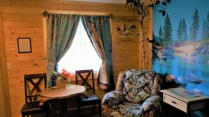 A seating area at Bear Cove Inn