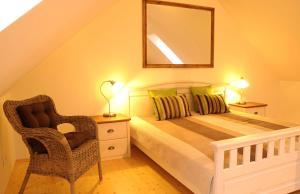 Кровать или кровати в номере Time Cafe & Penzion