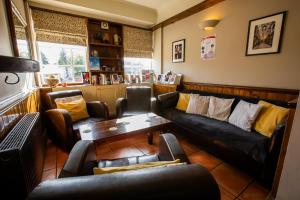 A seating area at Blue Boar Inn
