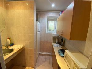 A bathroom at Penzion Pod Zámkem