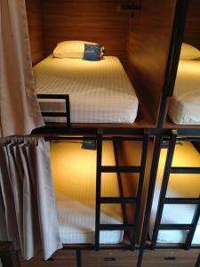 A bunk bed or bunk beds in a room at Fello B&B Hostel