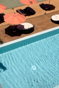 A view of the pool at Villa 360 or nearby