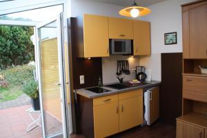 Küche/Küchenzeile in der Unterkunft Fewo Kasch