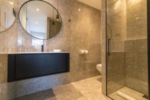 Salle de bains dans l'établissement Hotel Restaurant Mariosa