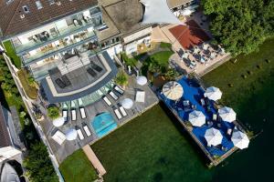 Blick auf Seehotel Pilatus aus der Vogelperspektive