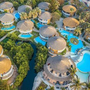 A bird's-eye view of Balafon Beach Resort