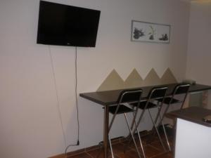 A television and/or entertainment center at Apartament Krynica Eland