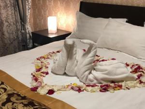 Кровать или кровати в номере Hotel Solar