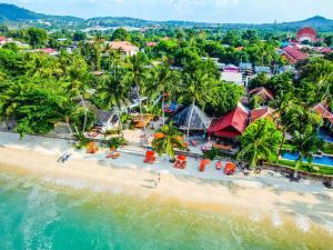A bird's-eye view of Secret Garden Beach Resort