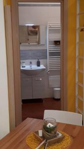 A bathroom at Alta Quota Central on the Sea