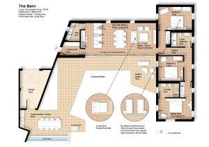 The floor plan of The Barn : Luxury Indoor/Outdoor Countryside Bliss